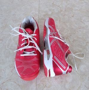 Asics GEL Solution Speed 2 Red White Tennis Shoes